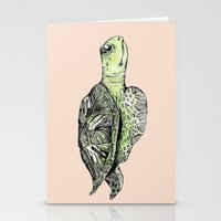 sea turtle Stationery Cards featuring Turtle by Tara Put