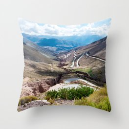 Crack in the Earth Throw Pillow