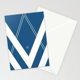 Blue V 2 #retro #society6 #abstract #artdeco #minimal #art #design #kirovair #buyart #decor #home Stationery Cards