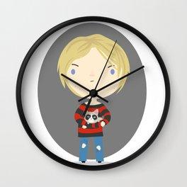 Cat Cobain Wall Clock