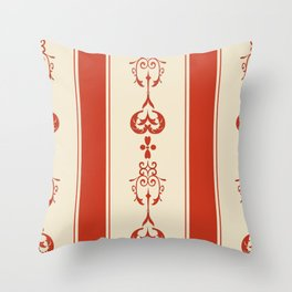 Red Stripe Fancy Throw Pillow