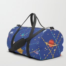 Space Rocket Pattern Duffle Bag