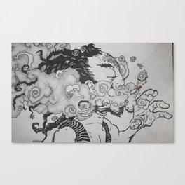 Toke n Smoke Canvas Print