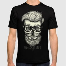 Hipster is Dead II Black Mens Fitted Tee MEDIUM