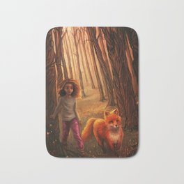 The Fox in the Forest Bath Mat
