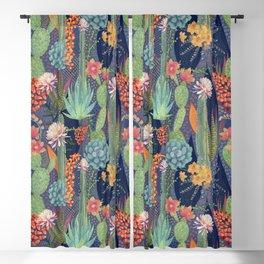 Modern Cactus Print Blackout Curtain