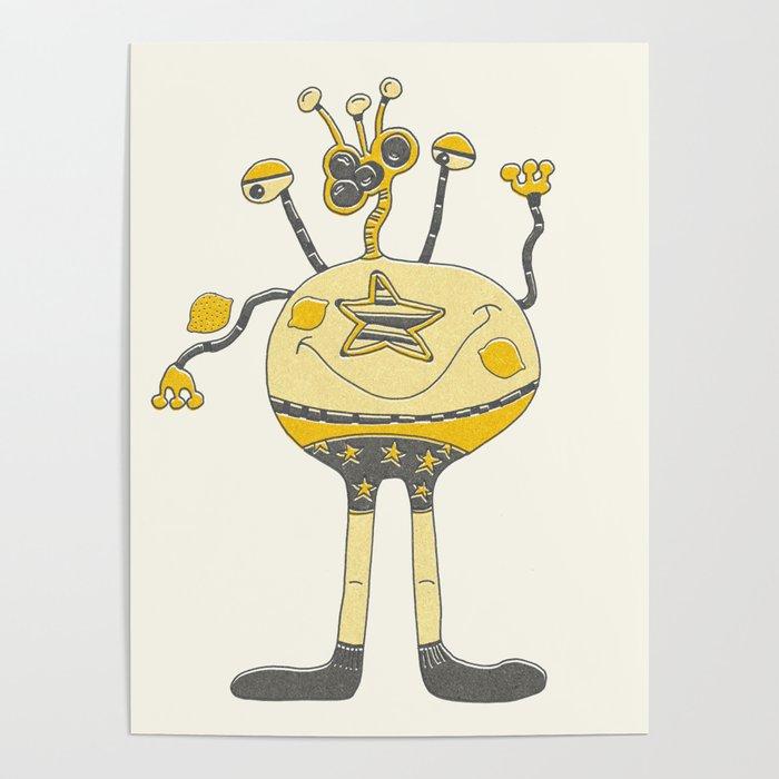 Robot Alien Monster No 190 Poster
