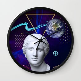 Ancient Gods and Planets: Earth Wall Clock