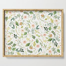 Botanical Spring Flowers Serving Tray