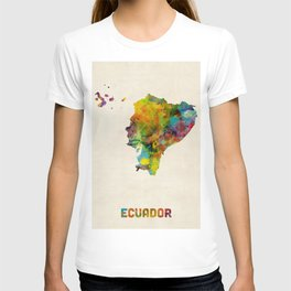 Ecuador Watercolor Map T-shirt