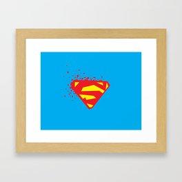 Square Heroes - man of steel Framed Art Print