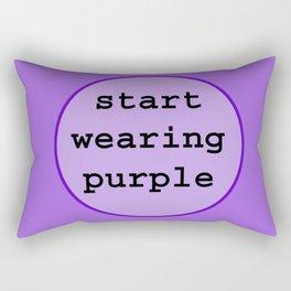 Start Wearing Purple Rectangular Pillow
