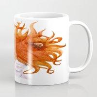 leo Mugs featuring Leo by Aloke Design