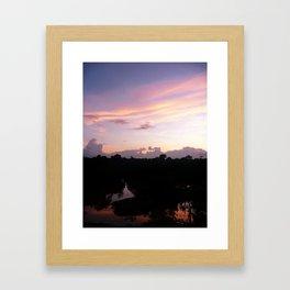 Amazon Sunset Framed Art Print