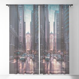 Chicago Street Sheer Curtain