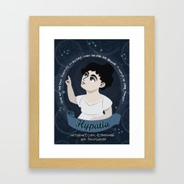 Women in science | Hypatia, mathematician, astronomer, philosopher Framed Art Print