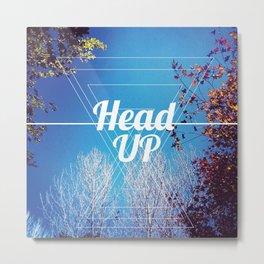 HeadUP Metal Print