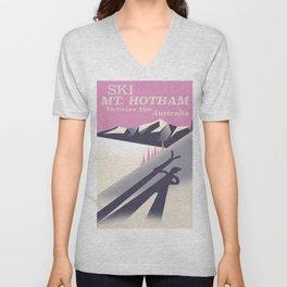 Mt. Hotham Victoria Alps Ski poster Unisex V-Neck