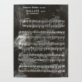 Brahms Sheet Music - Ballade Poster