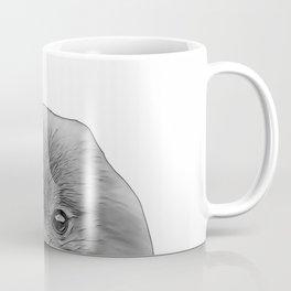 pomeranian b&w Coffee Mug