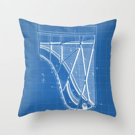 Steinway Piano Patent - Piano Player Art - Blueprint Throw Pillow