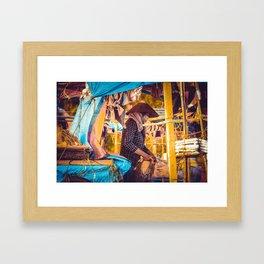 Vietnam boat Framed Art Print