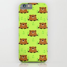 Adorable Groundhog Pattern iPhone Case