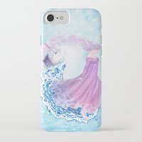 the last unicorn iPhone & iPod Cases featuring Last Unicorn by Roots-Love
