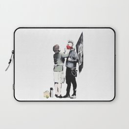Banksy, Punk with mother Laptop Sleeve