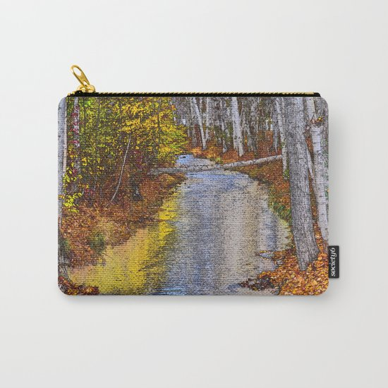 Autumn Stream - Watercolor Carry-All Pouch
