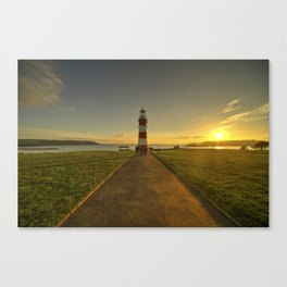 Smeaton's Tower Sunset  Canvas Print