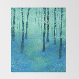 Bluebells, Challock Throw Blanket