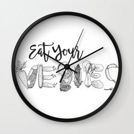 Eat Your Vegies Wall Clock