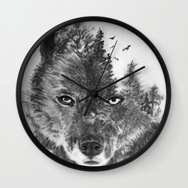 The Wild and the Wilderness II Wall Clock