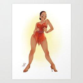 CHA CHA DANCER Art Print