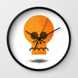 Floating Skull Wall Clock