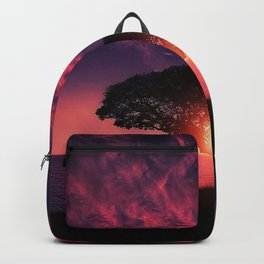 Gorgeous Coastal One Tree Hill Purple Sunset Backpack