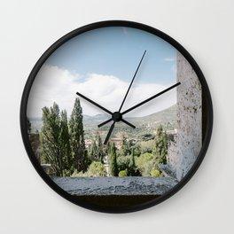 Window on Italian Countryside Wall Clock