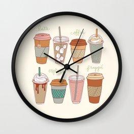 Latte Love Wall Clock