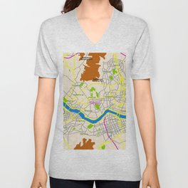 Seoul map Design Unisex V-Neck