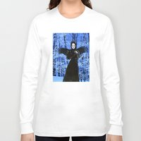 edgar allan poe Long Sleeve T-shirts featuring Nevermore - Edgar Allan Poe by Danielle Tanimura