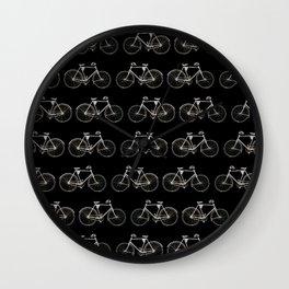 Vintage Bicycle Pattern Wall Clock