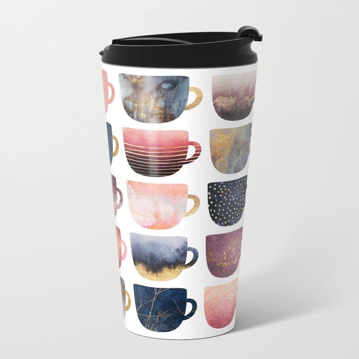 Pretty Coffee Cups 2 Travel Mug
