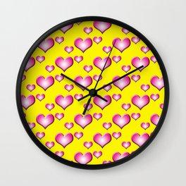herzen collage Wall Clock