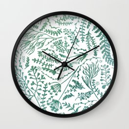 GREEN HERBS Wall Clock