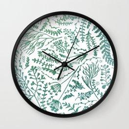 GREEN HERBS Wall Clock