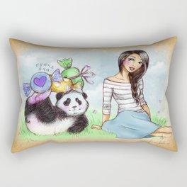 White Day Rectangular Pillow