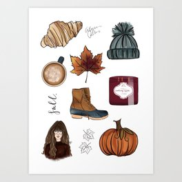 Fall Feelings Art Print
