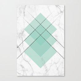 Marble Scandinavian Design Geometric Squares Canvas Print