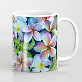 Rainbow Plumeria Dark Coffee Mug